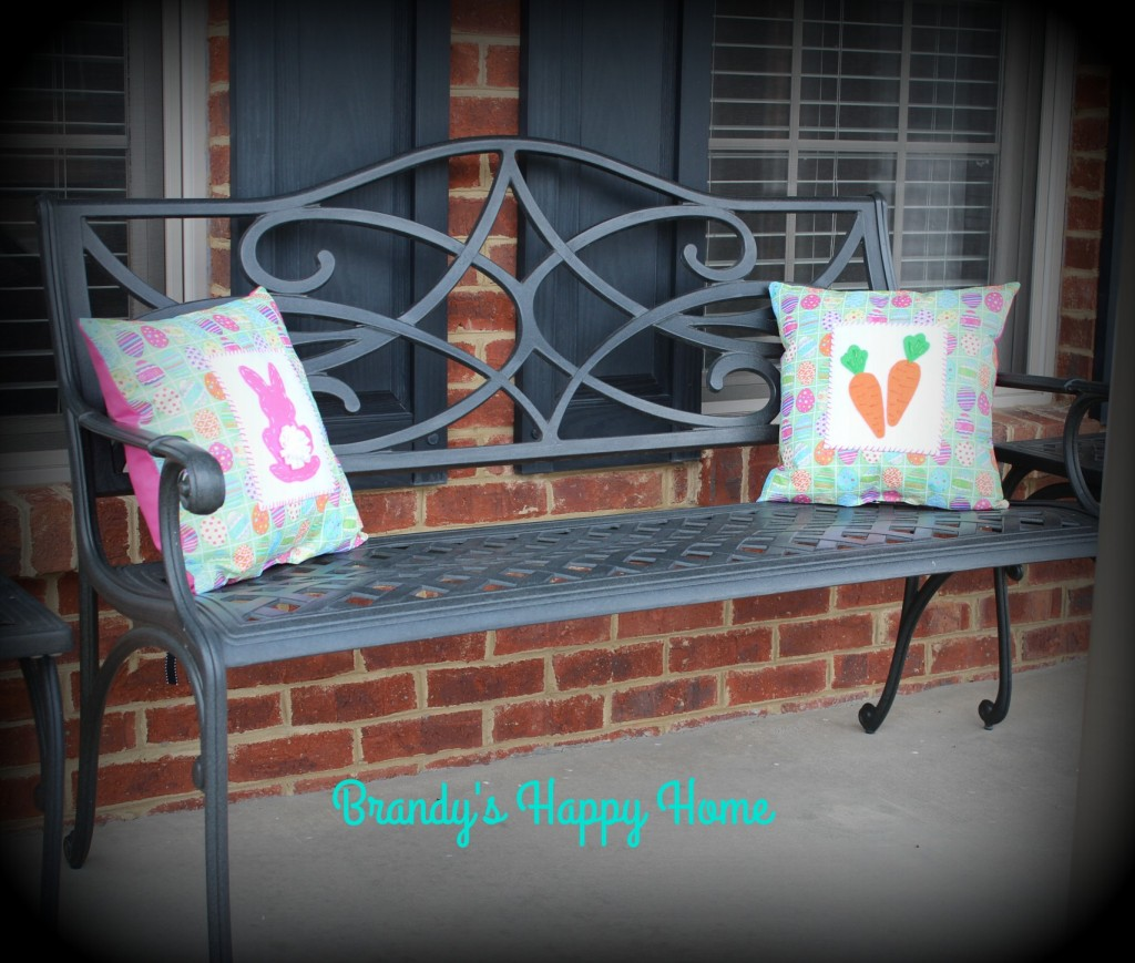 Easter porch pillows