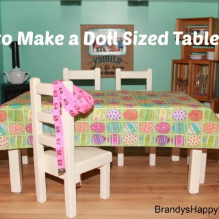How to Make a Doll Sized Tablecloth