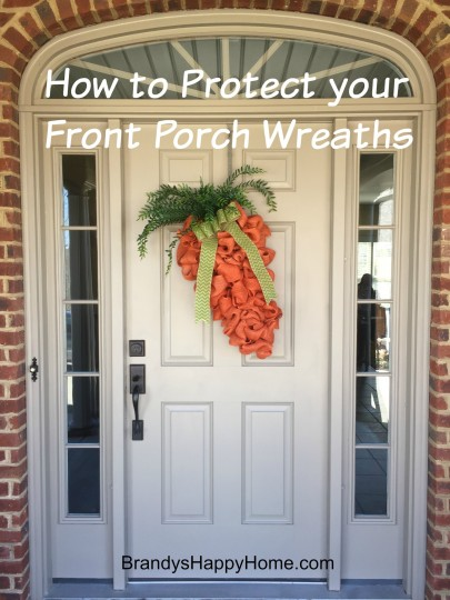 how to protect front porch wreaths