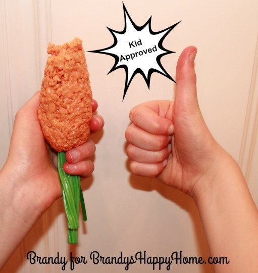 kids love rice krispies carrots with twizzlers stems