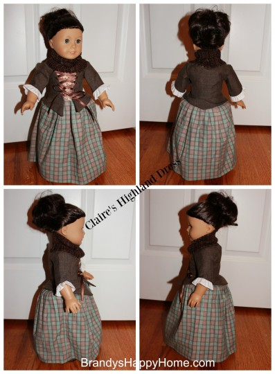 Claire Fraser Doll Dress