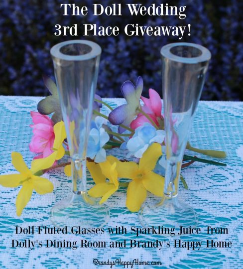 Doll champagne glasses giveaway