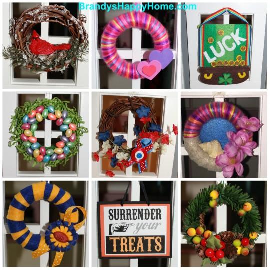 american girl dollhouse wreaths