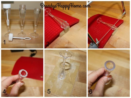 doll champagne glasses steps