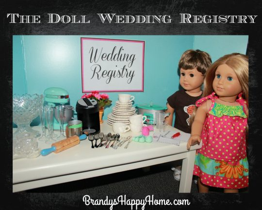 doll wedding registry