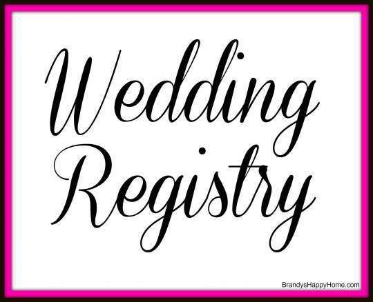 The doll wedding registry for When do you register for wedding gifts