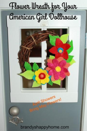 flower wreath for american girl dollhouse