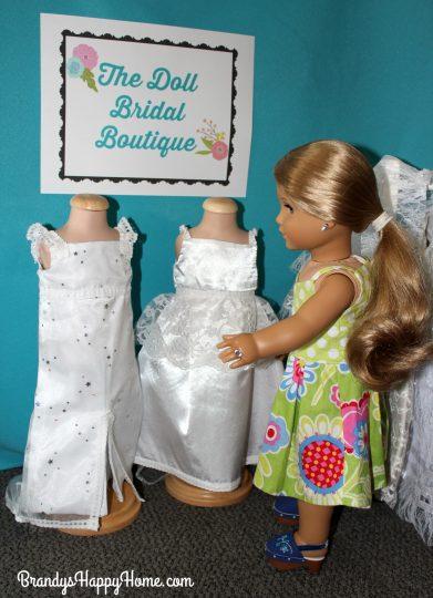 18 inch doll wedding dress shopping