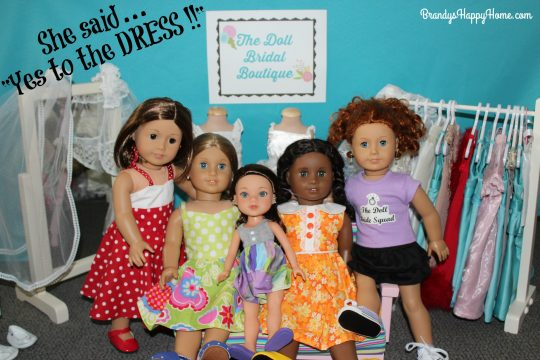 American girl wedding dress shopping