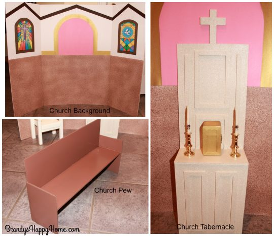 american girl doll church pew