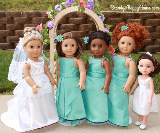 doll wedding bridal party 2