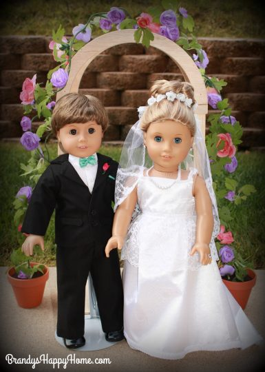 doll wedding bride and groom