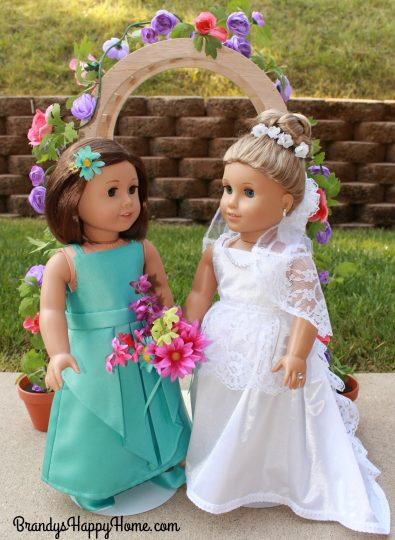doll wedding bride and maid of honor