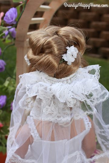 doll wedding bride hair