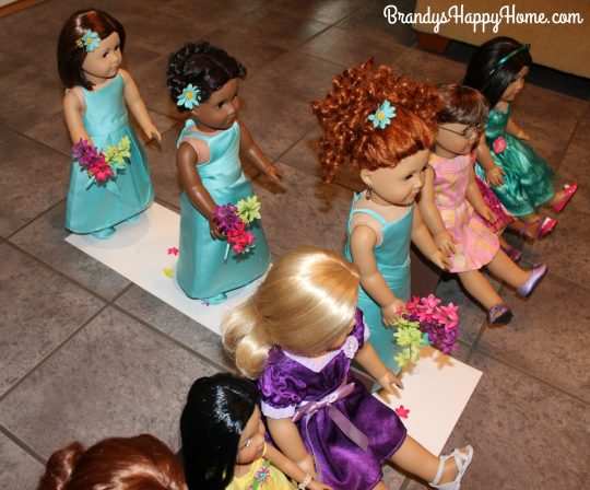 doll wedding bridesmaids