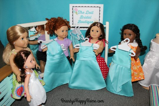 doll wedding bridesmaids dresses