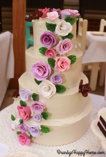 doll wedding cake