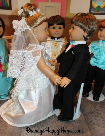doll wedding exchange of rings