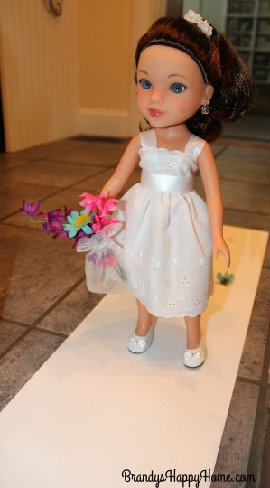 doll wedding flower girl