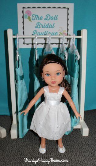 doll wedding flower girl