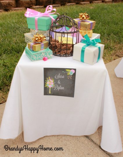 doll wedding gift table