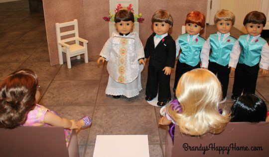 doll wedding groom party