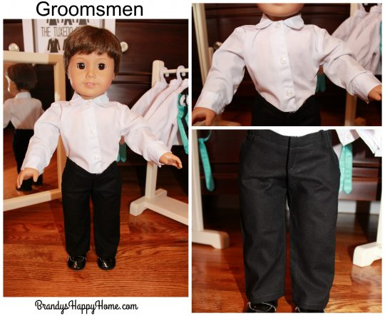 doll wedding groomsmen