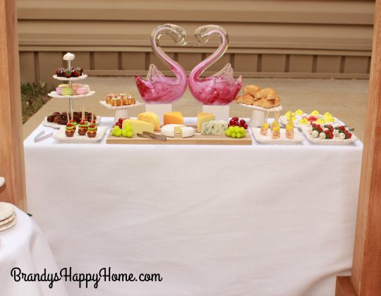 doll wedding reception food table