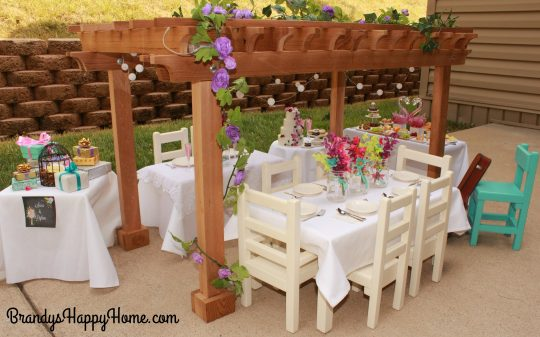 doll wedding reception tables