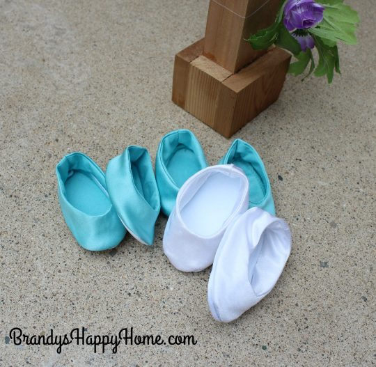 doll wedding shoes