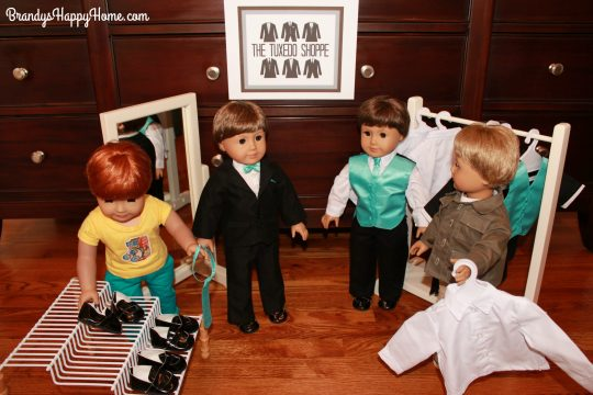 doll wedding tuxedo shop