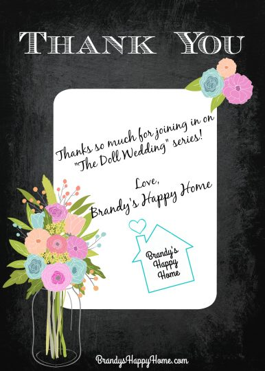 Doll Wedding Thank you note to viewers