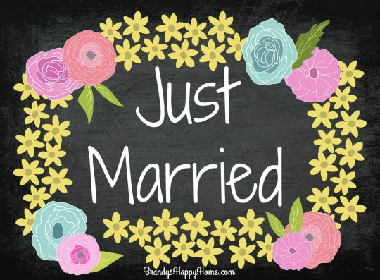 Just Married Sign 2