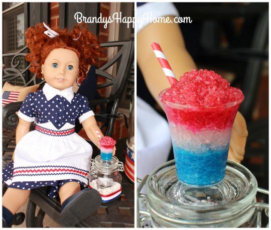 american girl doll patriotic slushie