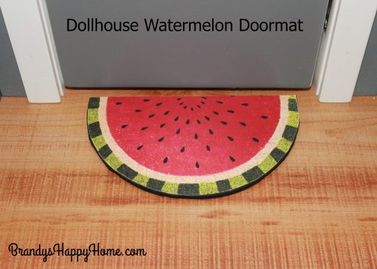 dollhouse watermelon doormat