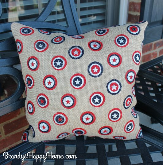 patriotic burlap pillows