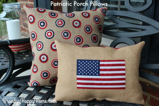 patriotic porch pillows