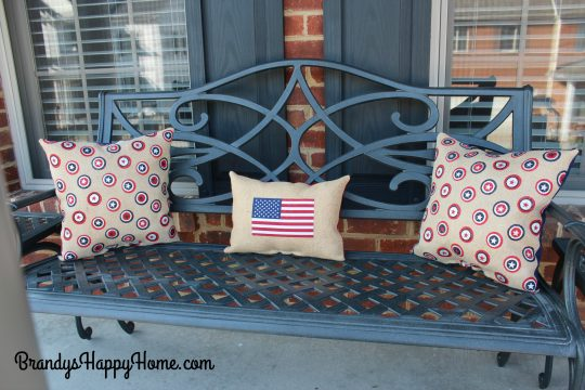 porch patriotic pillows