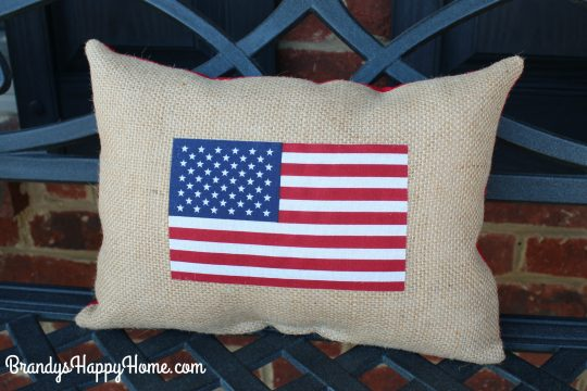 recycled parade flag pillow