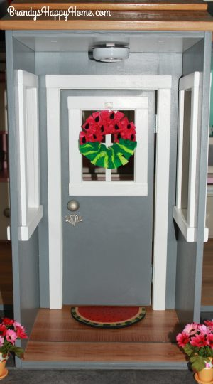 watermelon wreath on door