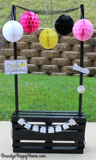 doll lemonade stand from crates