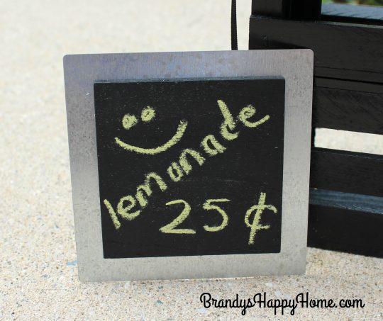 doll lemonade stand sign