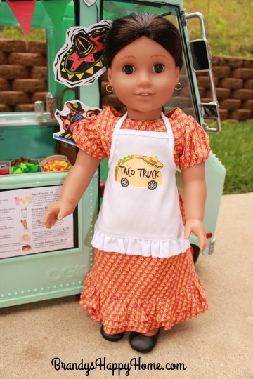 doll taco truck apron