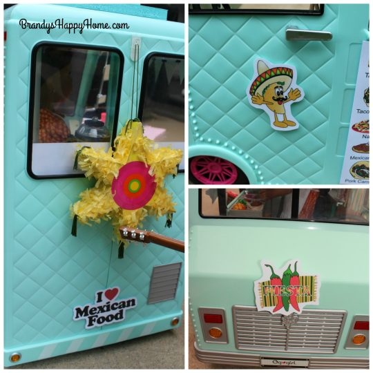 doll taco truck decorations