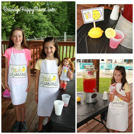 kid lemonade aprons