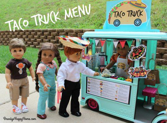 taco truck menu