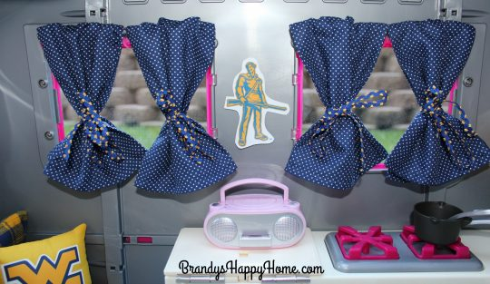 Doll Camper Curtains