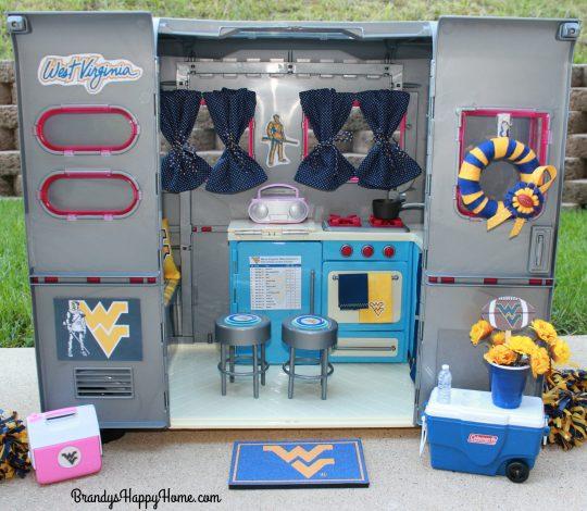 WVU doll camper