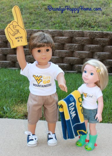 WVU doll clothes