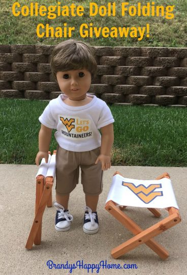 collegiate doll folding chair giveaway